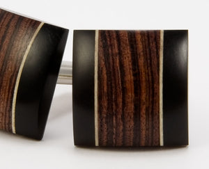 Kingwood, Ebony, Holly Wood Cufflinks