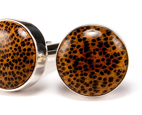 Hawaiian Koa & Ebony Wood Cufflinks