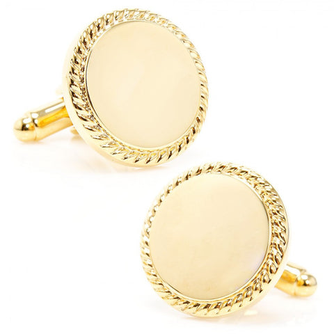 Inlaid Mother of Pearl Disc Cufflinks