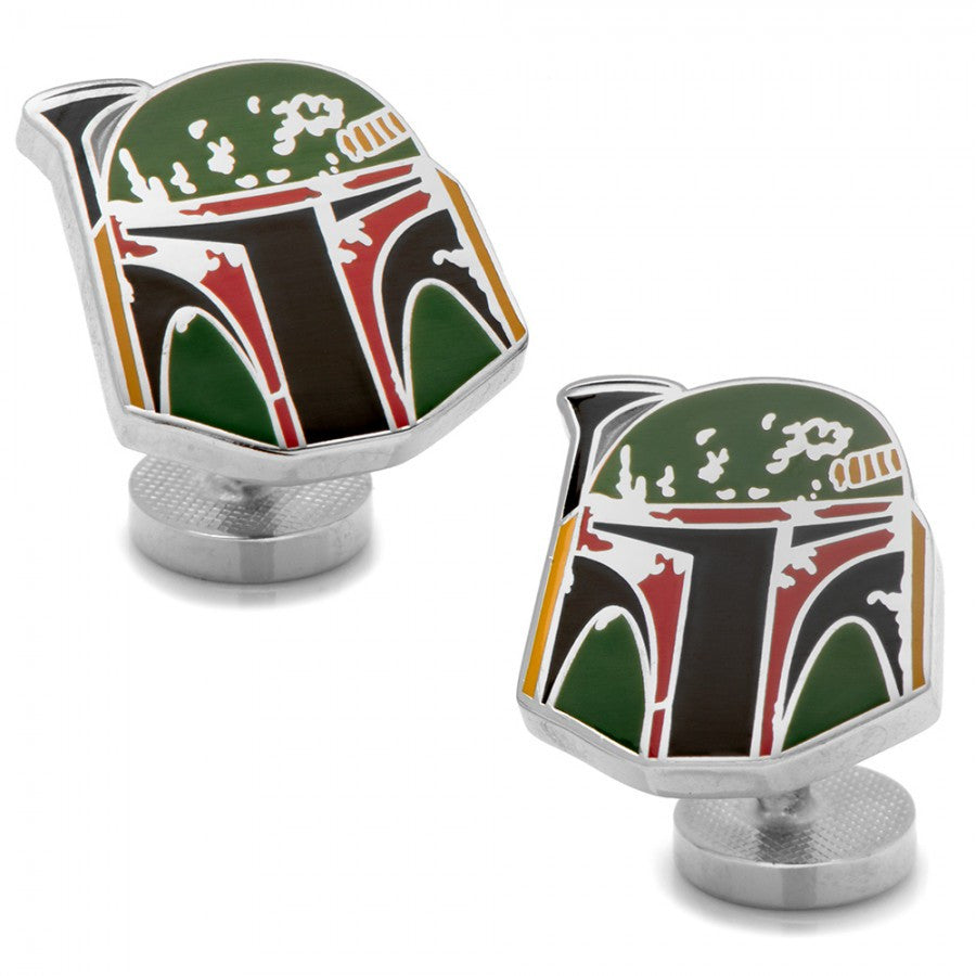 Boba Fett Distressed Helmet Cufflinks