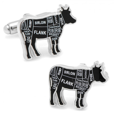 Chicken Butcher Cuts Cufflinks