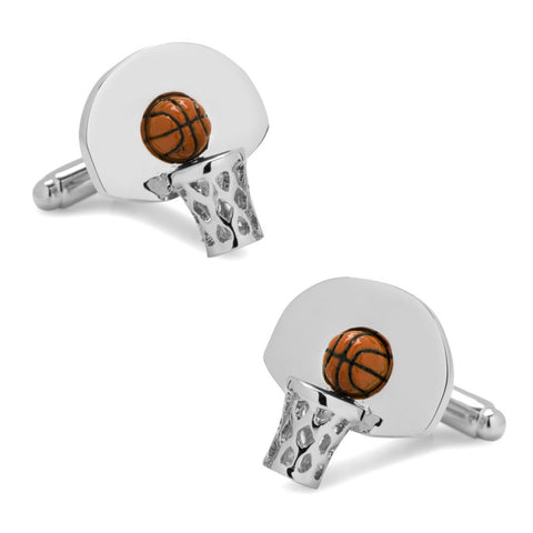 Silver Plated Houston Rockets Cufflinks