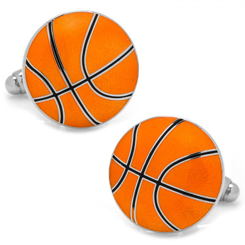 Silver Plated, Round Houston Rockets Cufflinks - 3/4'' Diameter