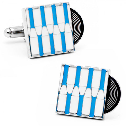 Sterling Silver Piano Key Cufflinks