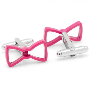 Cool Cut Pink Bow Tie Cufflinks