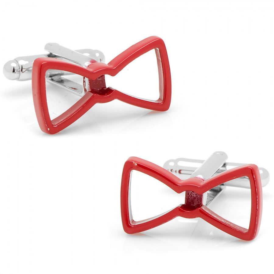 Cool Cut Red Bow Tie Cufflinks