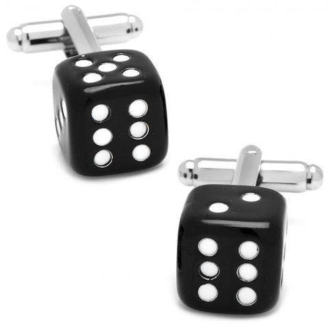 Onyx and Carnelian Double Sided Card Suit Cufflinks
