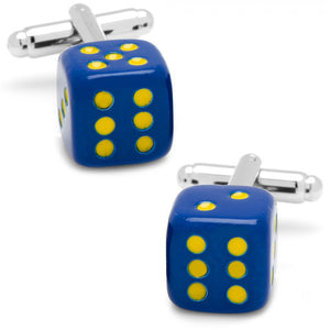 Blue Dice Cufflinks