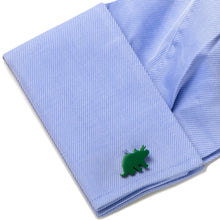Green Triceratops Cufflinks