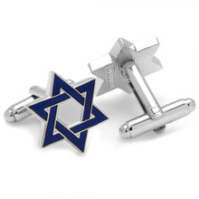 Blue David Star Cufflinks