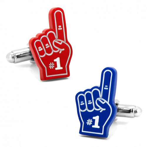 3D Foam Finger Set Cufflinks