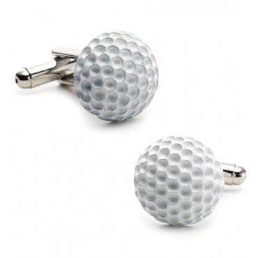 Double Sided Golf Ball and Tee Cufflinks