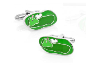 Green Golf Course Cufflinks