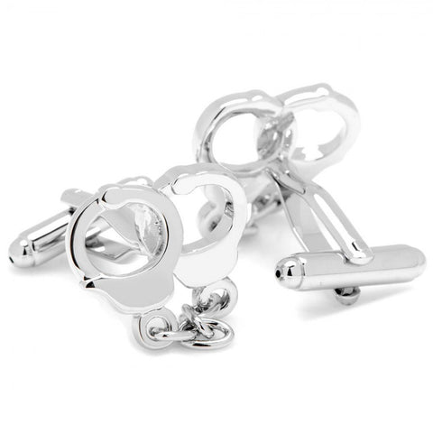Silver Plated Handcuff Cufflinks