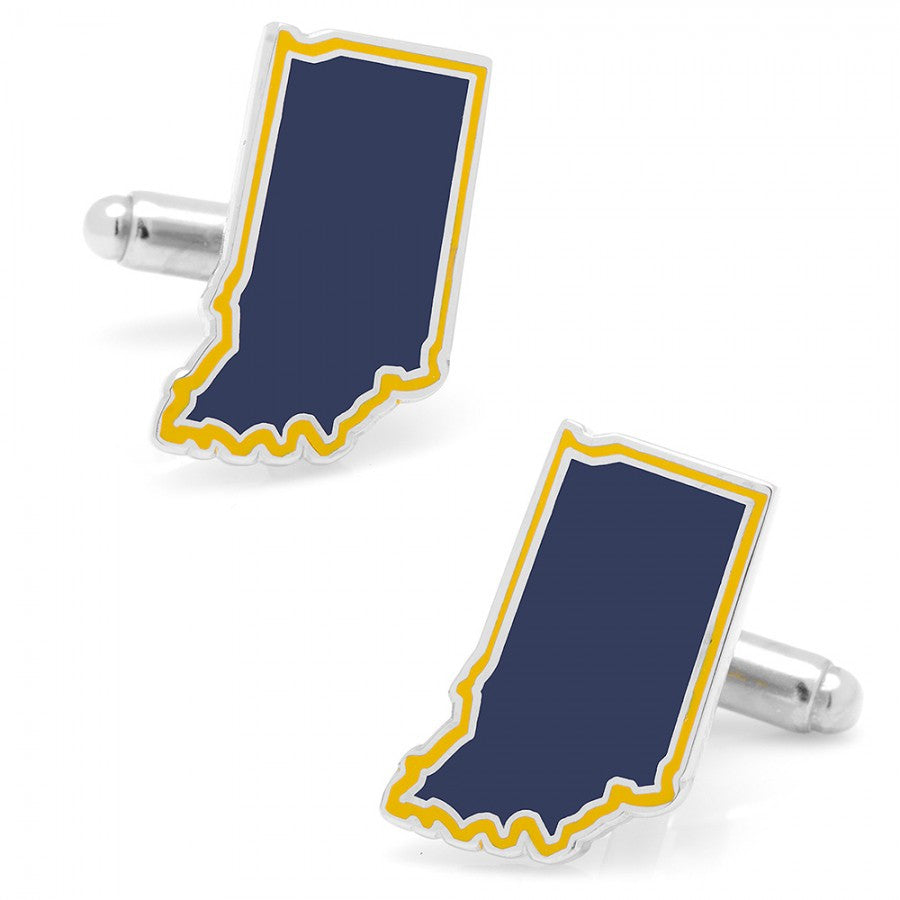 Navy Indiana Cufflinks