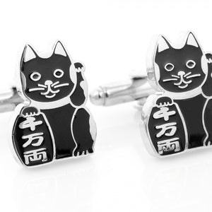 "Protector ""Maneki Neko"" Lucky Cat Cufflinks"