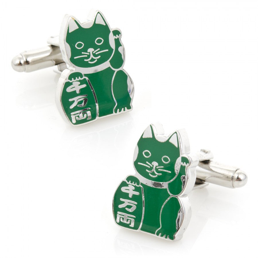 "Family ""Maneki Neko"" Lucky Cat Cufflinks"