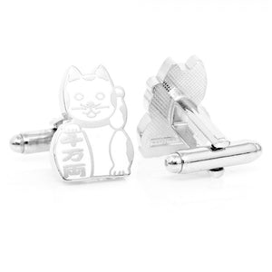 "Purity ""Maneki Neko"" Lucky Cat Cufflinks"