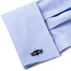 Cool Cut Black Moustache Cufflinks
