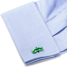 Cool Cut Green Moustache Cufflinks