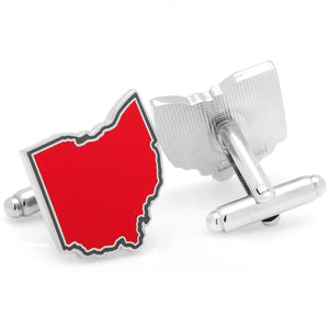 Red Ohio Cufflinks