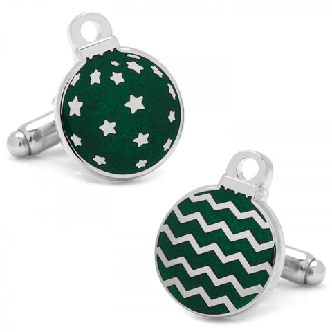 Green Ornaments  Cufflinks