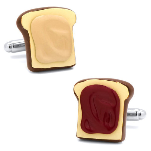 3D Peanut Butter and Jelly Cufflinks