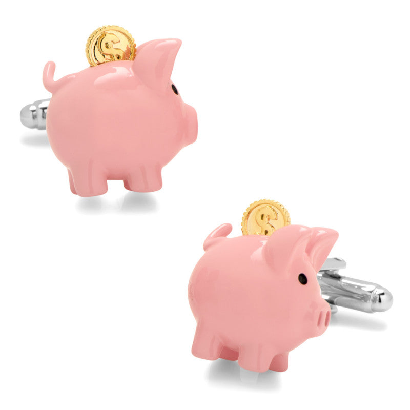 3D Piggy Bank Cufflinks