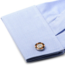 $500 Orange Poker Chip Cufflinks