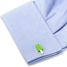 Green Lime Popsicle Cufflinks