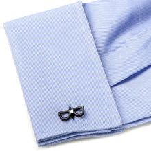 Cool Cut Taped Black Glasses Cufflinks