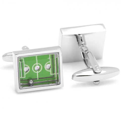Functional Soccer Field Cufflinks