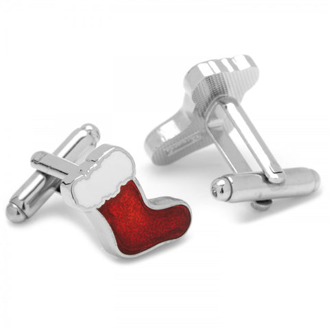 Red Stocking Cufflinks