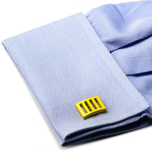 Yellow Vented Cufflinks