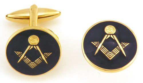 Black Square Masonic Coin Cufflinks