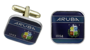 Aruba Coin Cufflinks