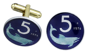 Italy Shark Coin Cufflinks