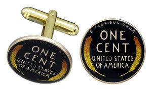 Wheat Cent Tail Coin Cufflinks