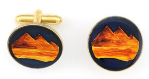 Egypt Pyramids Coin Cufflinks