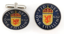 Scotland 1 Shilling Lion Coin Cufflinks