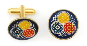 Guyana 3 Flowers Coin Cufflinks