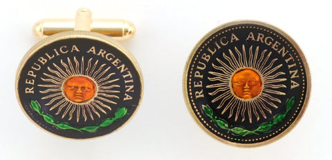 Singapore Flower Coin Cufflinks