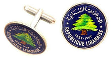 Lebanon Cedar Tree Coin Cufflinks