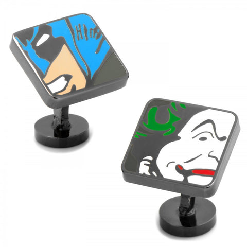 Batman and Joker Mash Up Cufflinks
