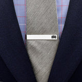 Batman Bat Logo Silver Tie Bar