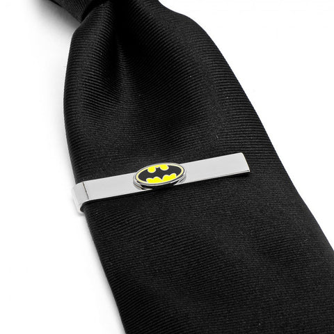 Batman Logo Cufflinks Tie Bar Gift Set