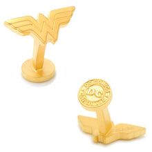 Matte Gold Wonder Woman Logo Cufflinks