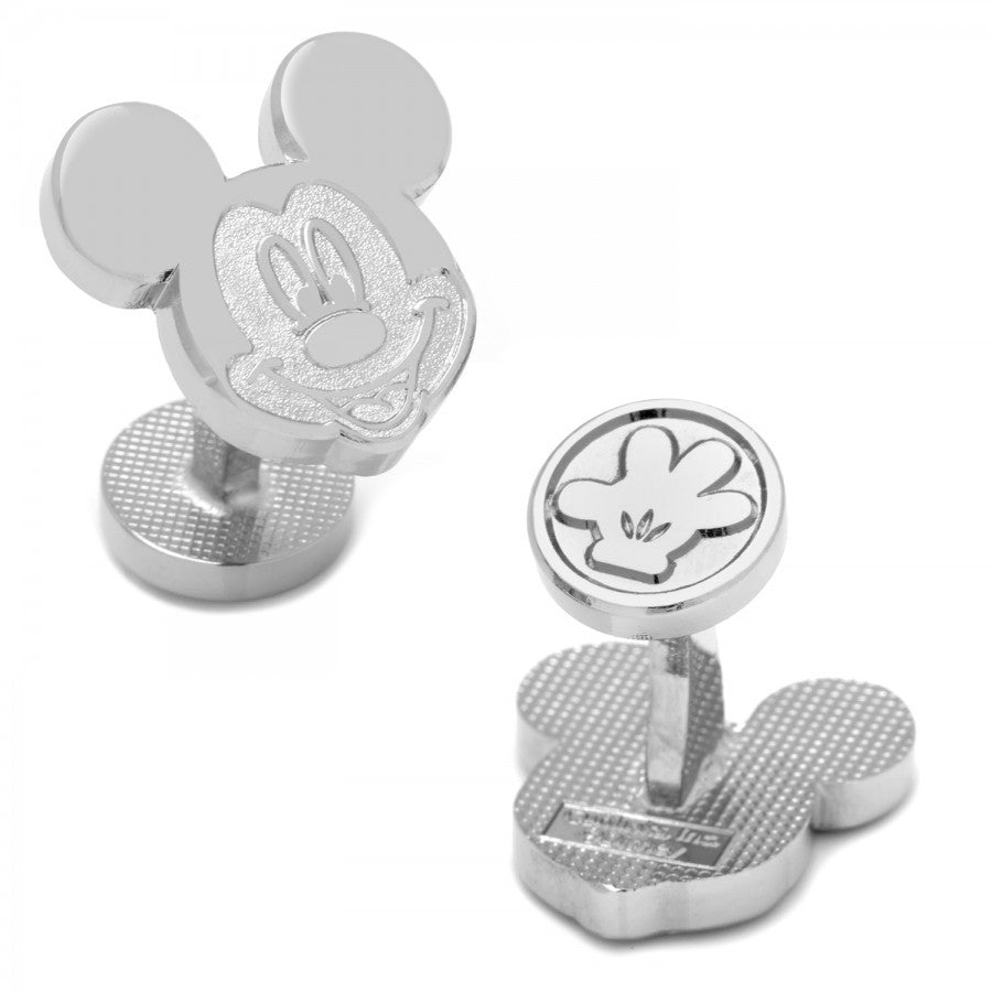 Silver Mickey Head Cufflinks