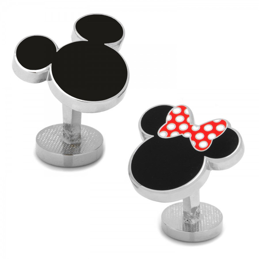 Mickey and Minnie Mouse Cufflinks