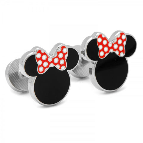 Black Minnie Silhouette Cufflinks
